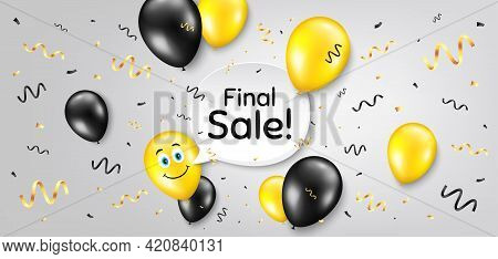 Final Sale. Balloon Confetti Vector Background. Special Offer Price Sign. Advertising Discounts Symb