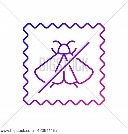 Moth Repellent Fabric Feature Gradient Linear Vector Icon. Quality Textile. Cover Protection For Sil