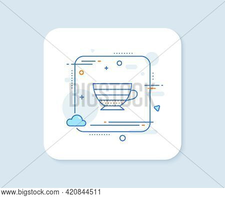 Cappuccino Coffee Icon. Abstract Square Vector Button. Hot Drink Sign. Beverage Symbol. Cappuccino L