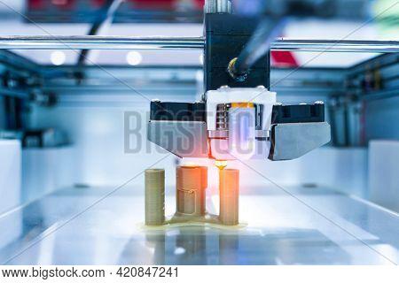 Three dimensional printing machine, 3D printer.