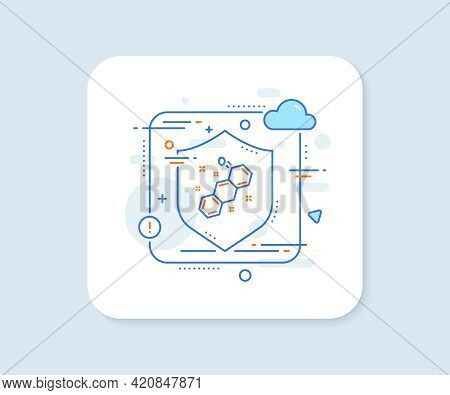 Chemical Formula Line Icon. Abstract Vector Button. Chemistry Lab Sign. Analysis Symbol. Chemical Fo