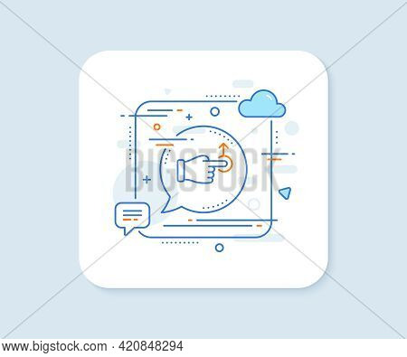 Drag Drop Gesture Line Icon. Abstract Square Vector Button. Slide Arrow Sign. Swipe Action Symbol. D