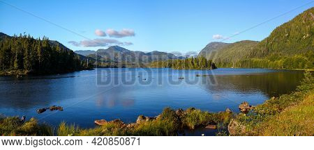 Panoramic View: Wonderful Prudhomme Lake Near Prince Rupert, British Columbia, Canada
