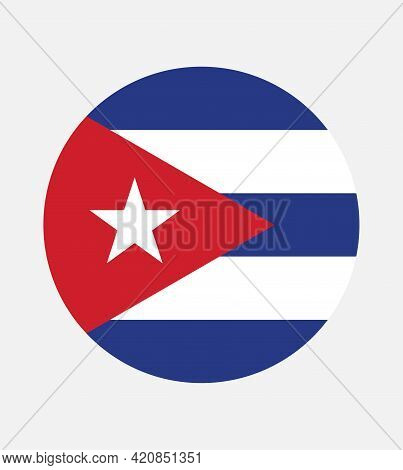 National Cuba Flag, Official Colors And Proportion Correctly. National Cuba Flag.