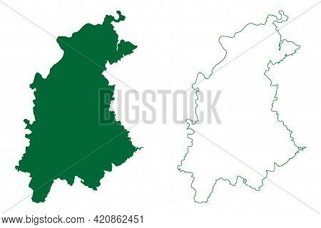 Panna District (madhya Pradesh State, Sagar Division, Republic Of India) Map Vector Illustration, Sc