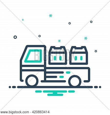 Mix Icon For Cargo Goods Wares Stock Commodities  Shipping  Freight