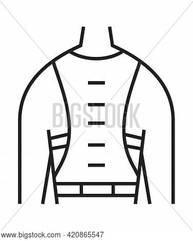 Back Brace Icon. Orthopaedic Rehabilitation Icon Vector. Physical Therapy