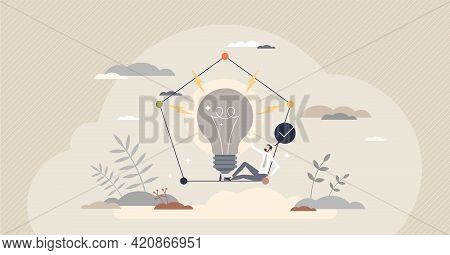 Initiative Skill As Taking Charge In New Innovative Idea Tiny Person Concept. Motivation In Beginnin