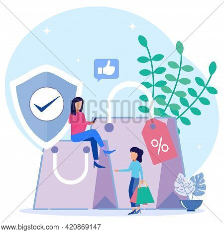 Vector Illustration Of Customer Rights And Responsibilities. Buyer-seller Relationship Rules. Consum