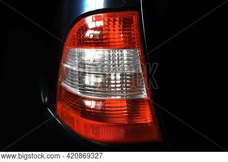 Car Headlights. Luxury Headlights. Part Of The Car