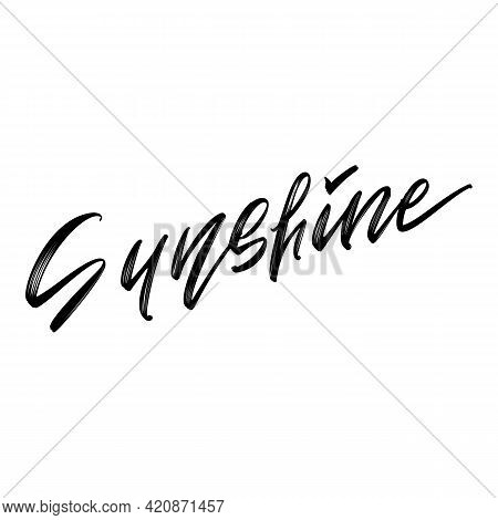 Summer Hand Drawn Lettering. Summer Lover Quotes Black And White Isolated Design Elements. Vector Il