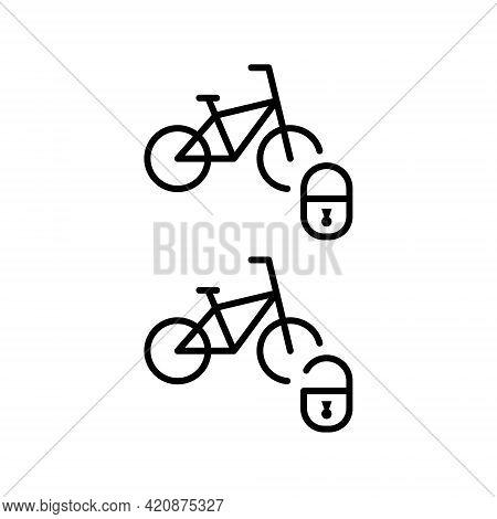 Bike Sharing Flat Line Icon. Vector Outline Illustration Of Urban Transportation, Rent A Bike, Bike