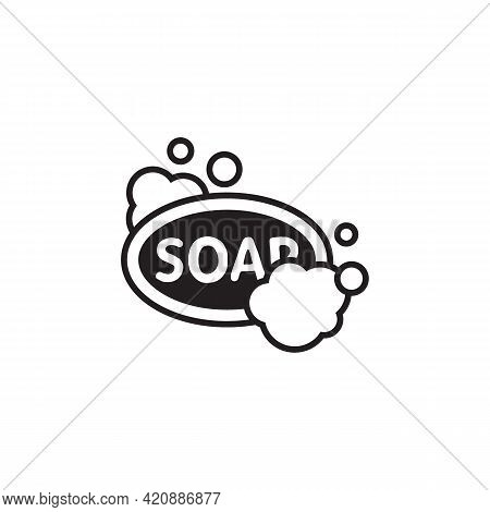 Soap Icon Isolated On White Background From Covid Collection. Soap Icon Thin Line Outline Linear Soa