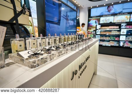 SINGAPORE - CIRCA JANUARY, 2020: Jo Malone fragrances on display in Sephora store at Nge Ann City shopping center.
