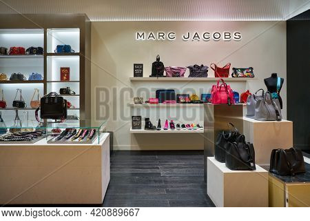 SINGAPORE - CIRCA JANUARY, 2020: Marc Jacobs goods on display in store at Nge Ann City shopping center.