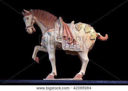 a Chinese ceramic horse ancient sculpture, Ceramic Horse poster