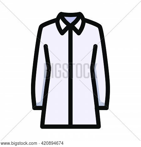 Business Blouse Icon. Editable Bold Outline With Color Fill Design. Vector Illustration.