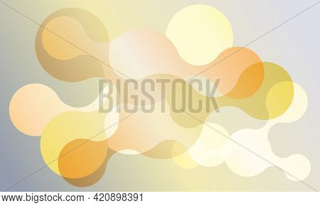 Abstract Connected Circles Vector Banner Background. Geometric Liquid Fluid Shapes.
