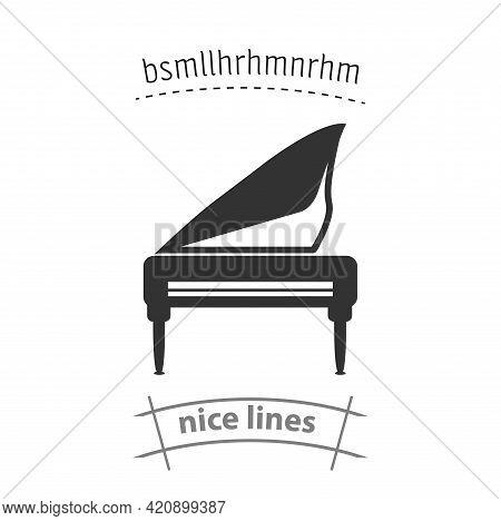Grand Piano Simple Vector Icon. Grand Piano Isolated Icon