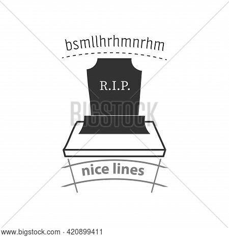 Grave Icon. Death Simple Vector Icon. Grave Isolated Icon