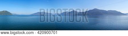 Wonderful Panoramic View Of The Incredible Inside Passage Between Alaska And British Columbia In Can