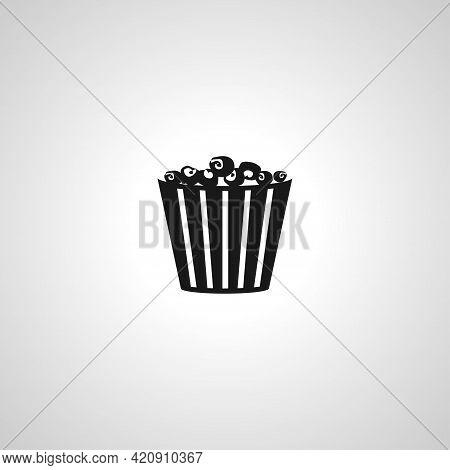 Popcorn Simple Vector Icon. Cinema Popcorn Icon