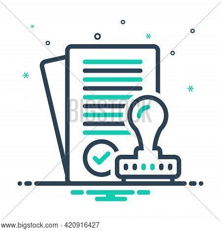 Mix Icon For Assumptions Approve Satisfied Allow Permit Assent Imprimatur