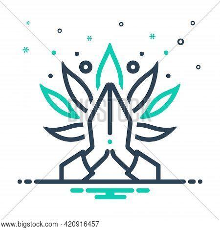 Mix Icon For Aura Pray Halo Worship Adoration Homage