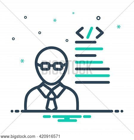Mix Icon For Developer  Programmer Man Adult Coder Software-engineer
