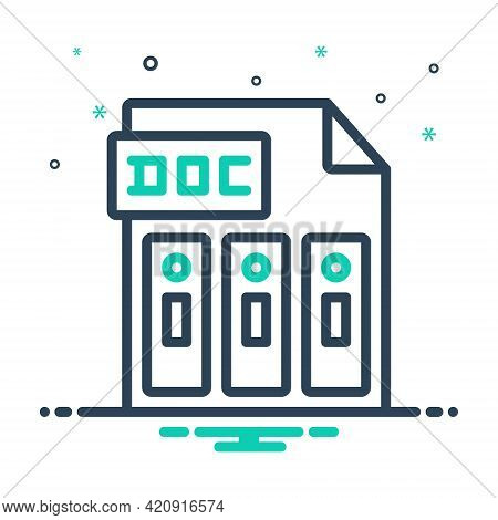 Mix Icon For Doc Reports Document File Folder Management