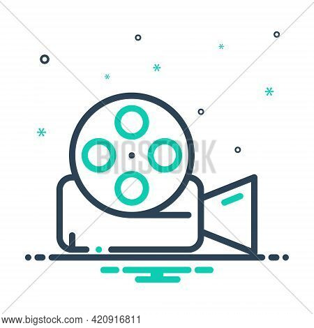 Mix Icon For Video-reel Video Reel  Film  Entertainment  Videocamera Technology