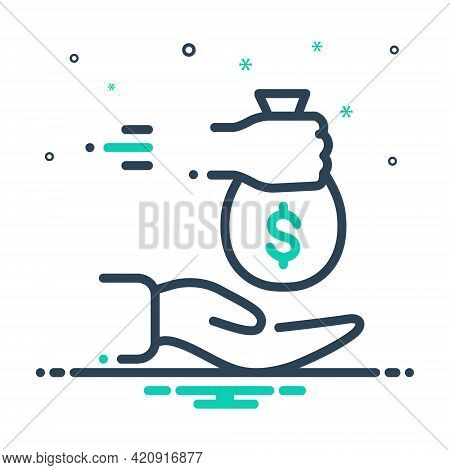 Mix Icon For Borrowed Loan Indebtedness Lending Currency