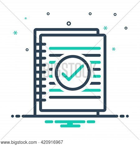 Mix Icon For Summary Resume Application Infographic Document Information