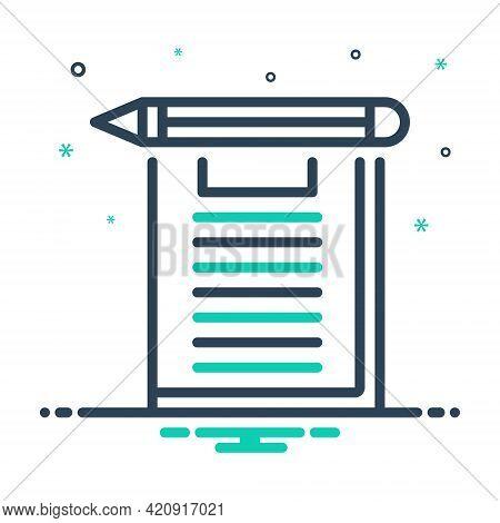 Mix Icon For Exam Examination Test Inquiry Analysis