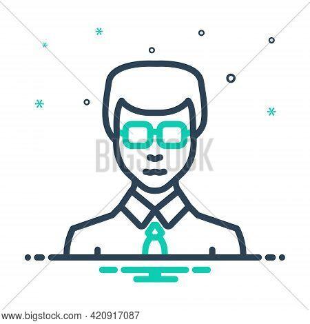 Mix Icon For Businessman Entrepreneur Enterprising Zippy Vocational Sappy