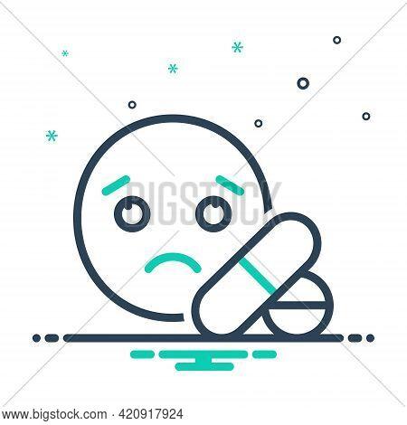 Mix Icon For Compulsion Helplessness Pills Medicine Emoji Sad