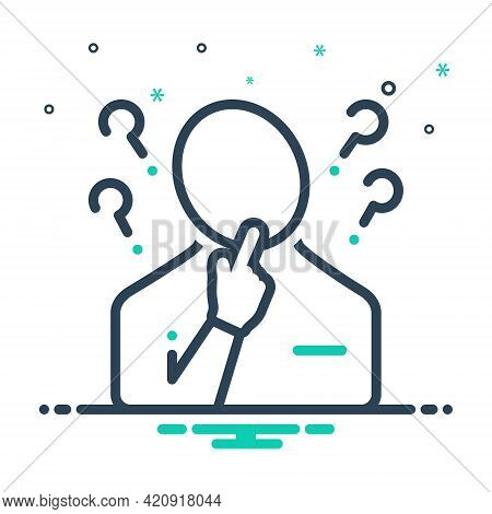 Mix Icon For Concerning About Regarding Think Person