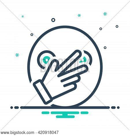 Mix Icon For Connivance Hand Finger Ignore Negligence
