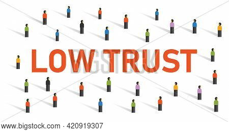 Low Trust Society Community With Low Truthful Strength Partnership