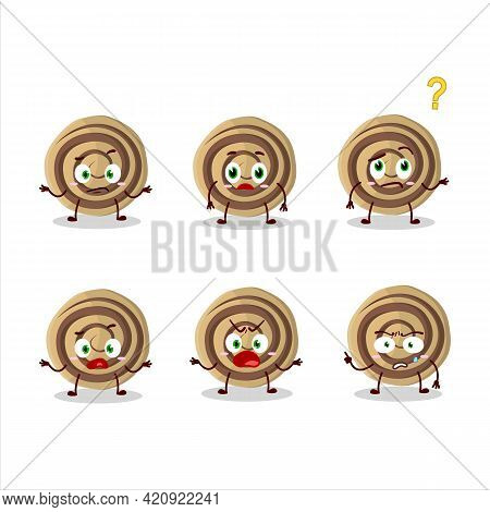 Cartoon Character Of Cookies Spiral With What Expression