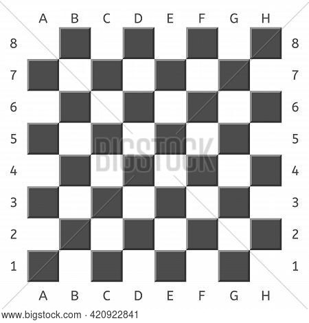 Black And White Chess Board. Game Chessboard Background. Checkerboard - Board For Playing Checkers A