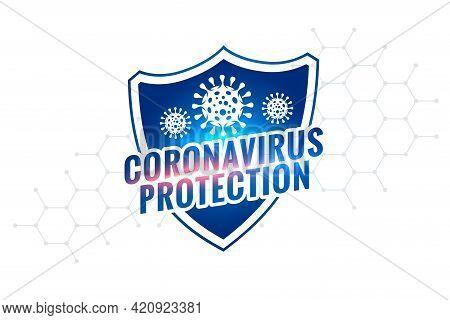 Novel Coronavirus Covid-19 Protection Shield Symbol Design