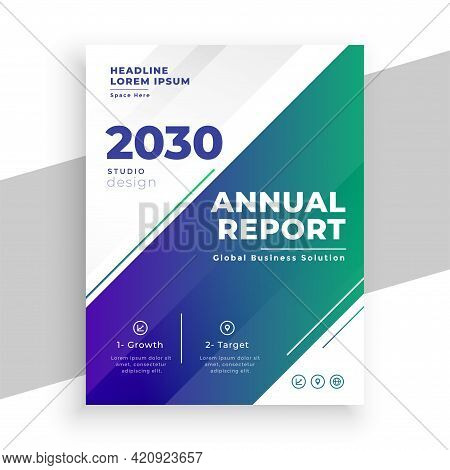 Stylish Business Annual Report Brochure Template Design