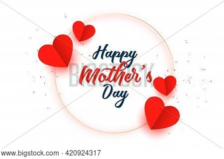 Happy Mothers Day Hearts Celebration Card Design