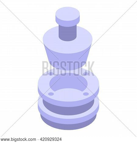 Press Machine System Icon. Isometric Of Press Machine System Vector Icon For Web Design Isolated On