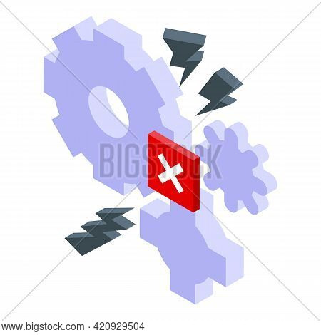 Malware System Icon. Isometric Of Malware System Vector Icon For Web Design Isolated On White Backgr