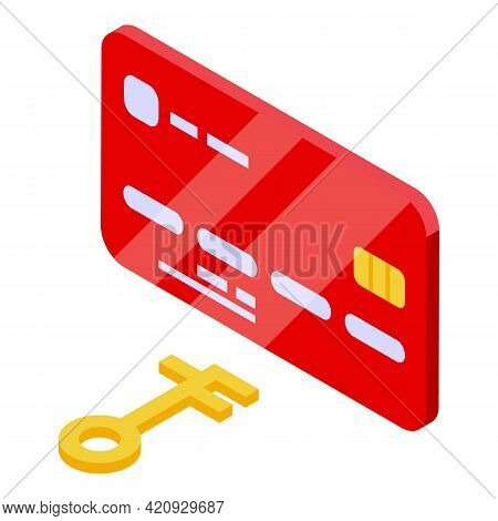 Credit Card Malware Icon. Isometric Of Credit Card Malware Vector Icon For Web Design Isolated On Wh