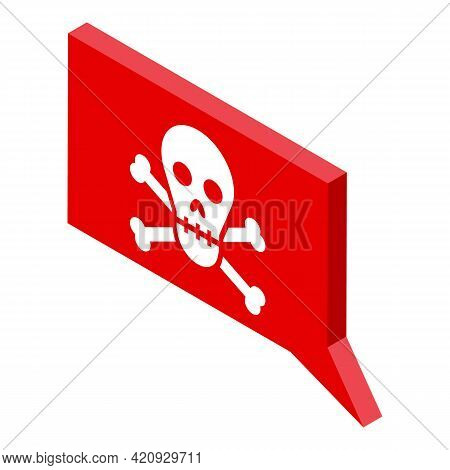 Malware Attack Icon. Isometric Of Malware Attack Vector Icon For Web Design Isolated On White Backgr