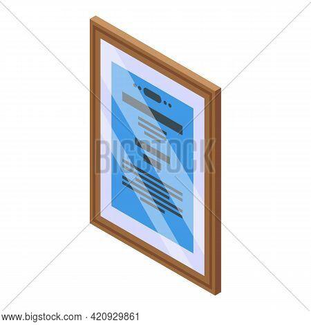 Awarding Diploma Icon. Isometric Of Awarding Diploma Vector Icon For Web Design Isolated On White Ba