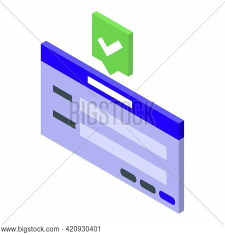 Enter Password Protection Icon. Isometric Of Enter Password Protection Vector Icon For Web Design Is